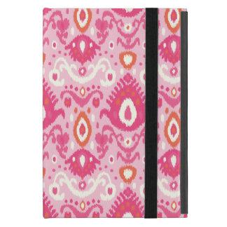 Coque iPad Mini Motif rose et de corail d'Ikat