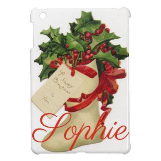 Coque iPad Mini Noël vintage/rétro stockant Personnalised