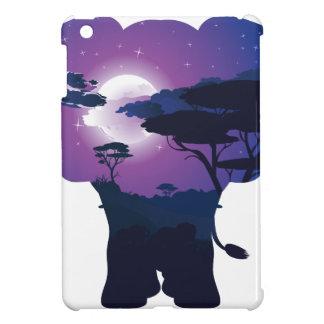Coque iPad Mini Nuit africaine avec l'éléphant 3