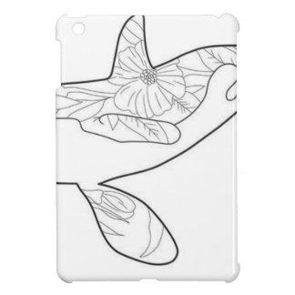 Coque iPad Mini Orcha floral noir et blanc