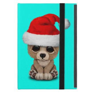 Coque iPad Mini Ours de bébé utilisant un casquette de Père Noël