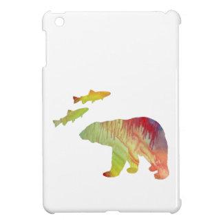 Coque iPad Mini ours et saumon