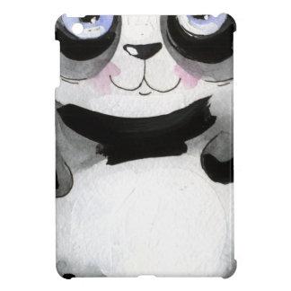 Coque iPad Mini Ours panda fol, noir et blanc