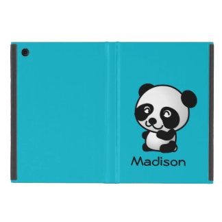 Coque iPad Mini Ours panda noir et blanc heureux mignon