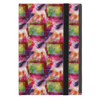 Coque iPad Mini Papier peint vert et rouge abstrait