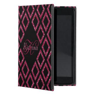 Coque iPad Mini Parties scintillantes roses personnalisées avec le