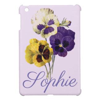 Coque iPad Mini Pensée vintage/victorienne fleurit Personnalised