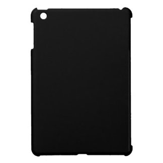 Coque iPad Mini Personnaliser simplement noire de couleur solide
