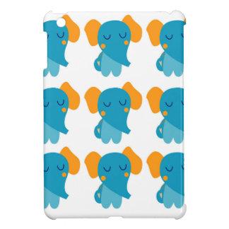 Coque iPad Mini Petits éléphants mignons, bleus
