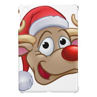 Coque iPad Mini Renne de Noël dans le casquette de Père Noël