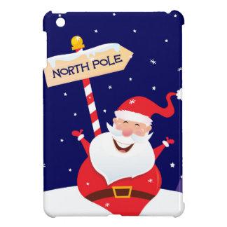 Coque iPad Mini Rouge mignon de Père Noël sur le blanc