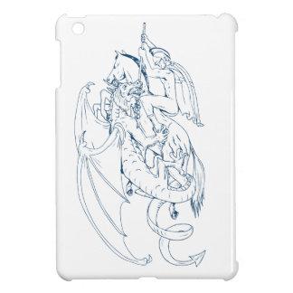 Coque iPad Mini St George massacrent le dessin de dragon