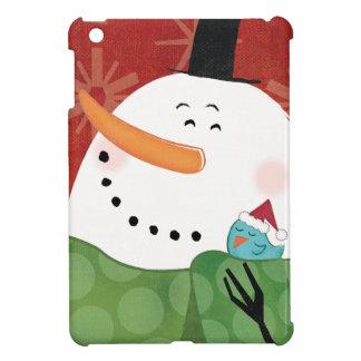 Coque iPad Mini Tasse bleue de Noël avec du cacao foncé