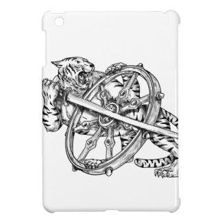 Coque iPad Mini Tigre avec le tatouage de roue de Katana et de