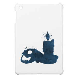 Coque iPad Mini Un crâne de chat et une bougie