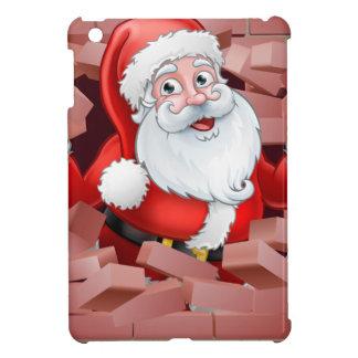 Coque iPad Mini Une illustration de Noël de Père Noël traversant
