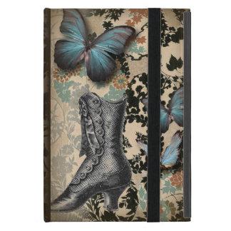Coque iPad Mini victorian floral de papillon d'éphémères de