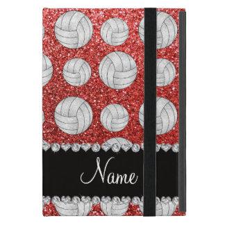 Coque iPad Mini Volleyballs roses de corail nommés faits sur