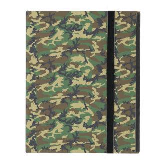 Coque iPad Motif d'armée, arrière - plan de Camo - vert jaune