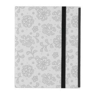 Coque iPad Motif de dentelle, cru 1 de fleur