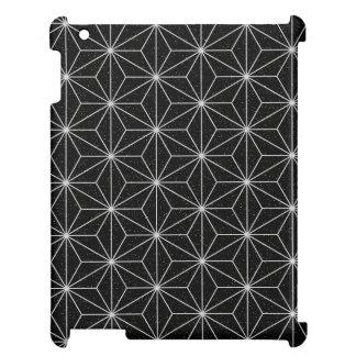 Coque iPad Motif géométrique élégant - argent et Noir