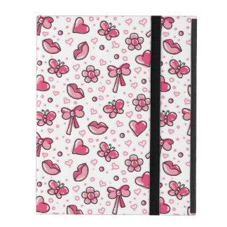 Coque iPad motif romantique