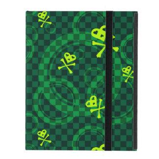 Coque iPad Motif vert d'Emo avec des cercles