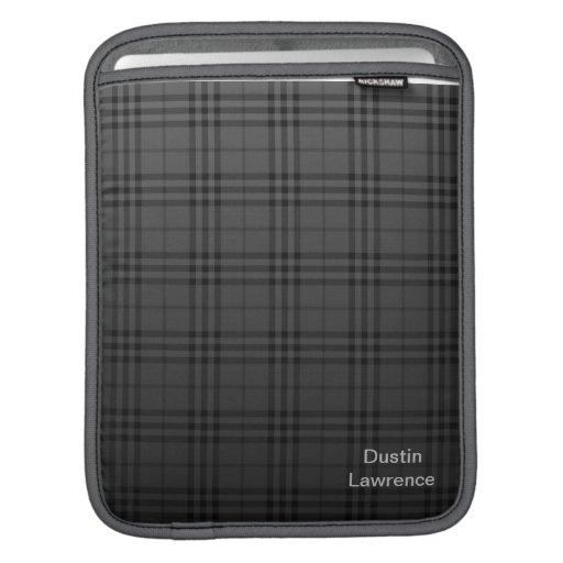Coque ipad noir de plaid housses iPad