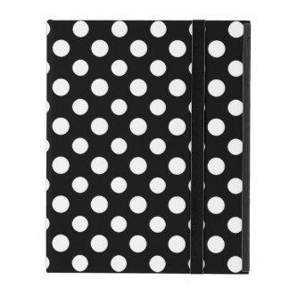 Coque ipad noir et blanc de motif de point de