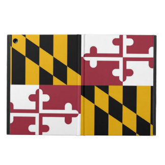 Coque ipad patriotique avec le drapeau du Maryland