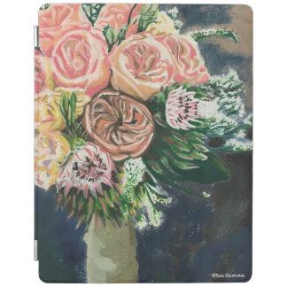 Coque ipad peint à la main de bouquet floral