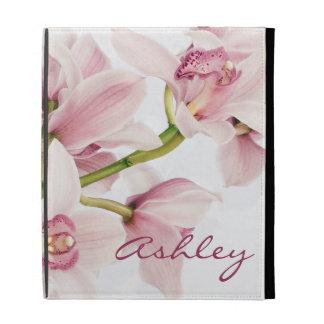 Coque ipad personnalisé par orchidée rose de Cymbi