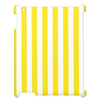 Coque iPad Rayures jaunes verticales