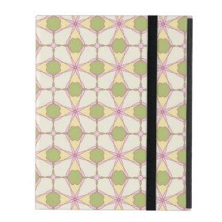 Coque iPad Rétro arrière - plan coloré 3 de motif