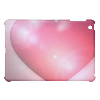 Coque ipad rose de conception de coeur