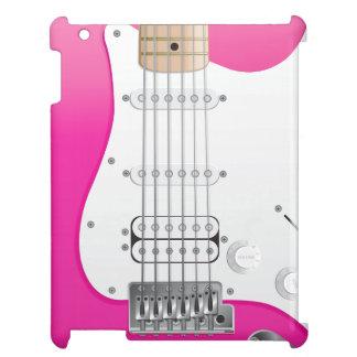 Coque ipad rose de guitare électrique