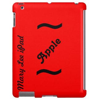 Coque ipad rouge de Coque-Compagnon de coup à pein