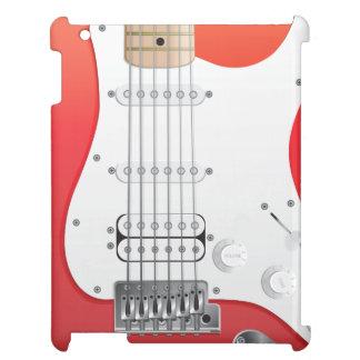Coque ipad rouge de guitare électrique