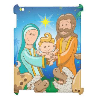 Coque iPad Scène douce de la nativité du bébé Jésus