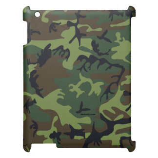 Coque ipad vert de camouflage