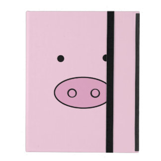 Coque iPad Visage de porc, nez de porc, museau de porc, peu