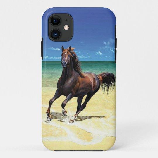 Coque iPhone 11 Cas équin de l'iPhone 5 de beauté de plage