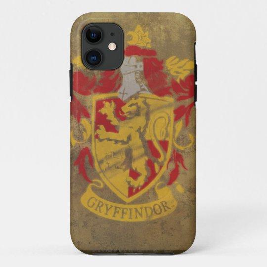 Coque iPhone 11 Harry Potter  Peinture Ravenclaw rustique