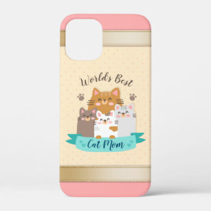 Coque iPhone 12 Mini Meilleure maman de chat du monde - Cute Kittens