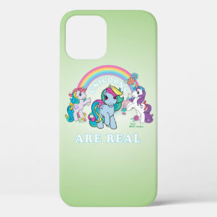 Coque iPhone 12 Mon petit rétro  Les licornes sont réelles