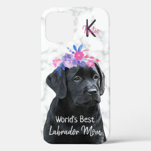 Coque iPhone 12 Pro Labrador Mom Retriever Black Lab