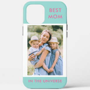 Coque iPhone 12 Pro Max Meilleure maman dans l'univers de la photo personn