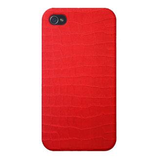 Coque iphone 3d en cuir rouge