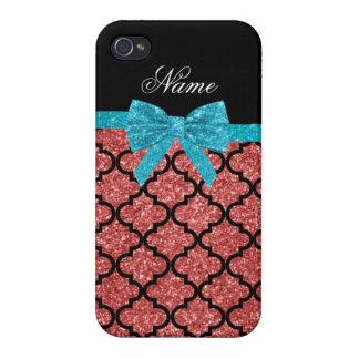 Coque iPhone 4/4S Arc marocain de parties scintillantes roses de