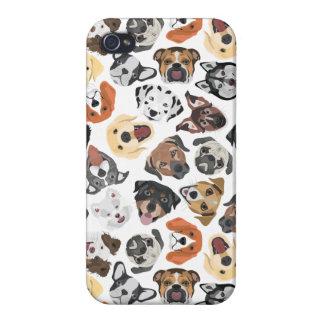 Coque iPhone 4/4S Chiens domestiques doux de motif d'illustration